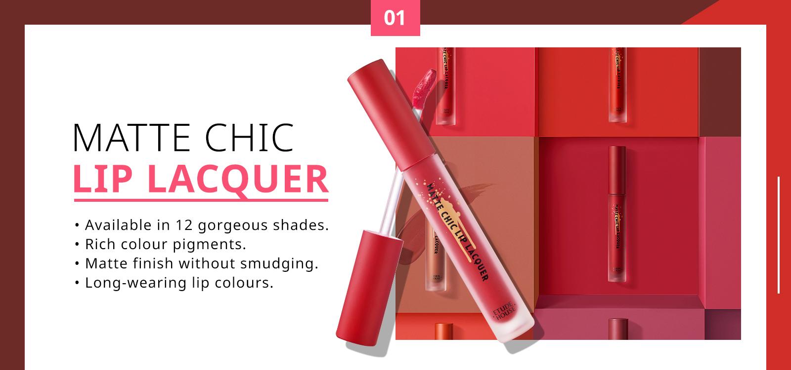 July 2018: Etude House Matte Chip Lip Lacquer