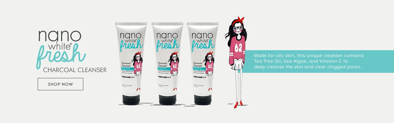 Nanowhite Fresh Charcoal Cleanser