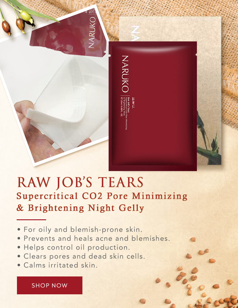 Naruko Flagship - Star Product - Raw Job's Tears Supercritical CO2 Pore Minimizing & Brightening Mask