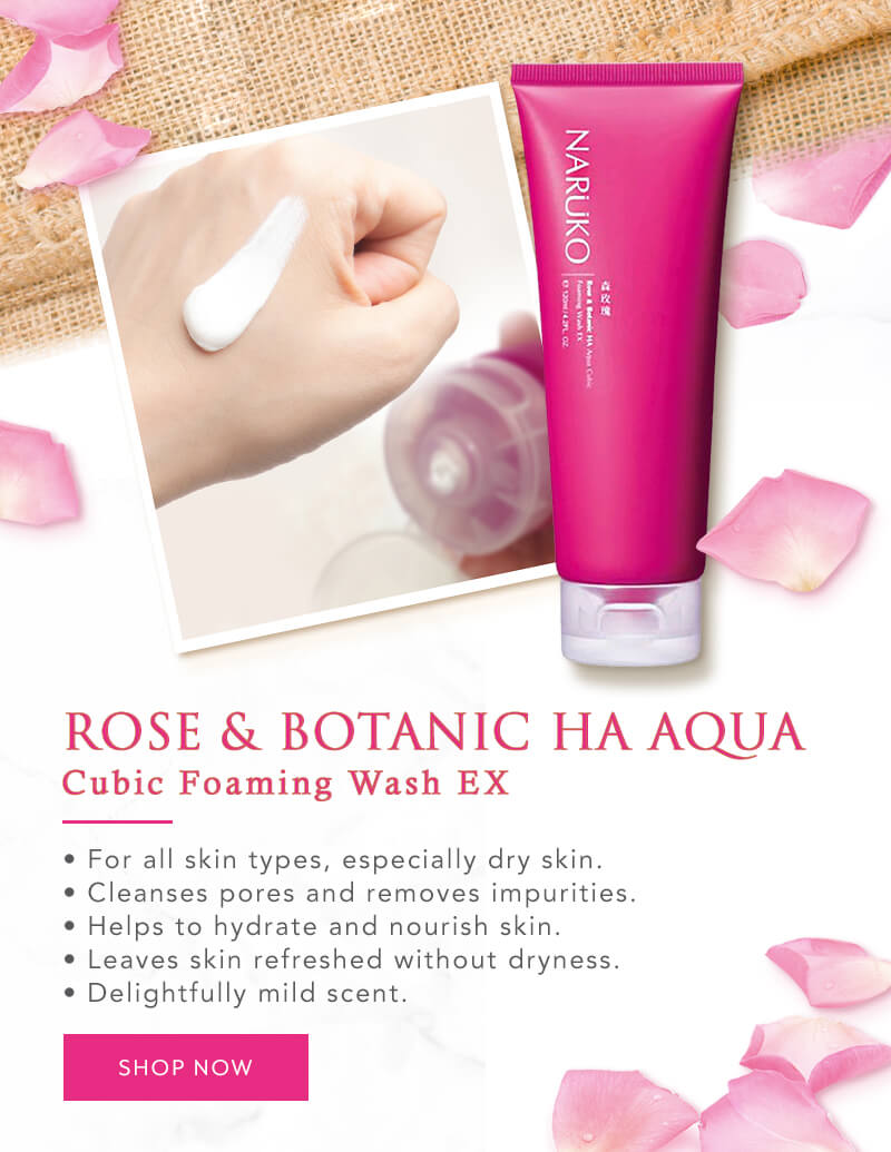 Naruko Flagship - Star Product - Rose & BOTANIC HA Aqua Cubic Foaming Wash EX
