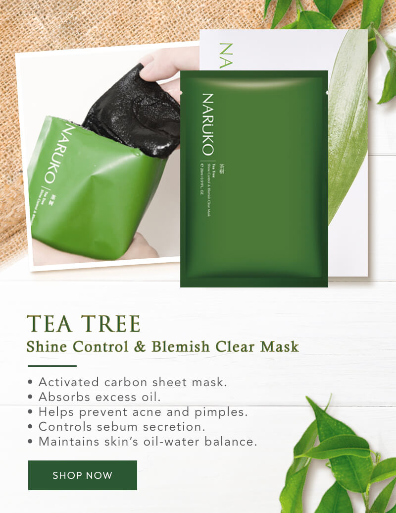 Naruko Flagship - Star Product - Tea Tree Shine Control & Blemish Clear Mask