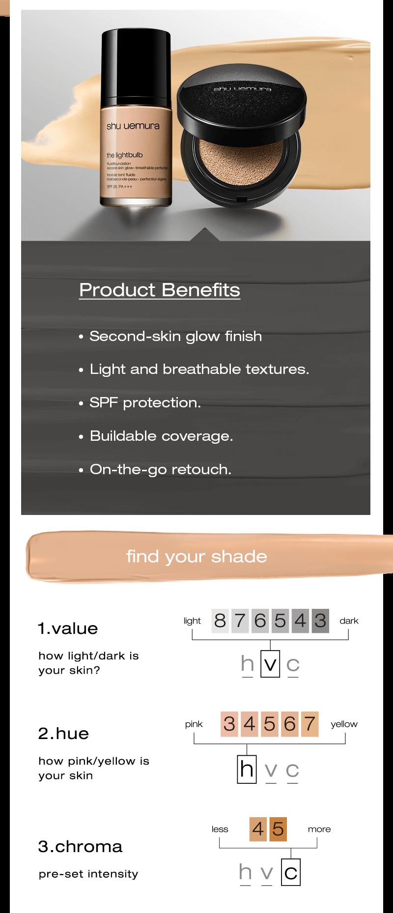 shu uemura lightbulb foundation product speciality