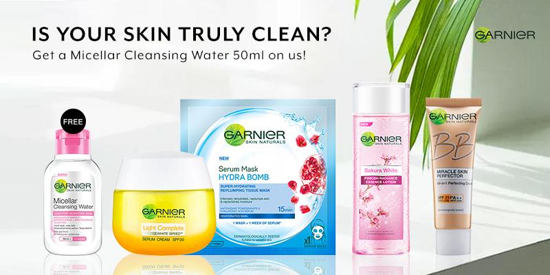 May 19: Garnier GWP Cleansing Water 50ml
