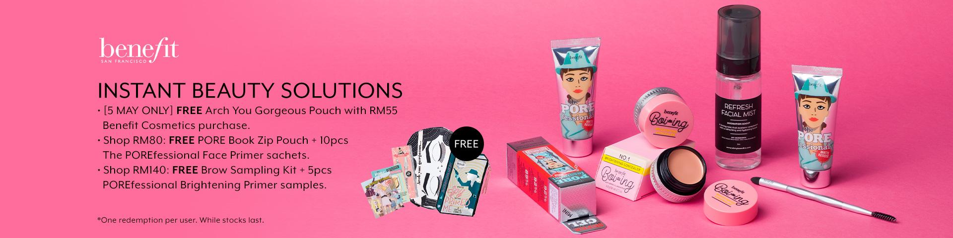 May 2019: Benefit Cosmetics