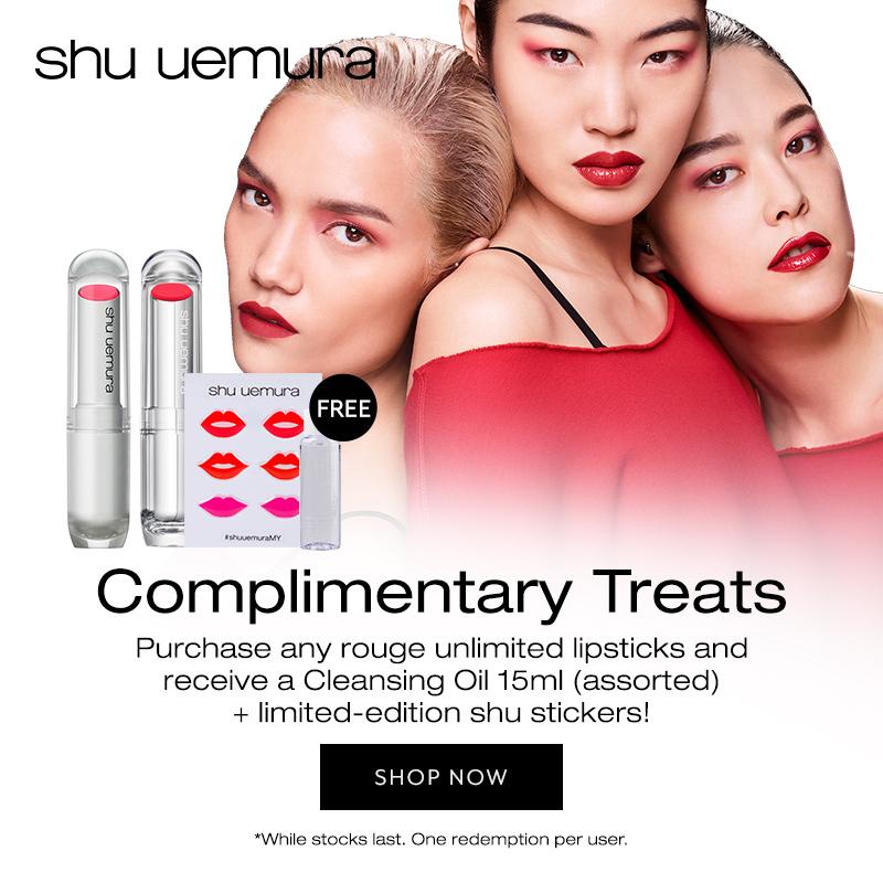 Shu uemura Lipstick promo