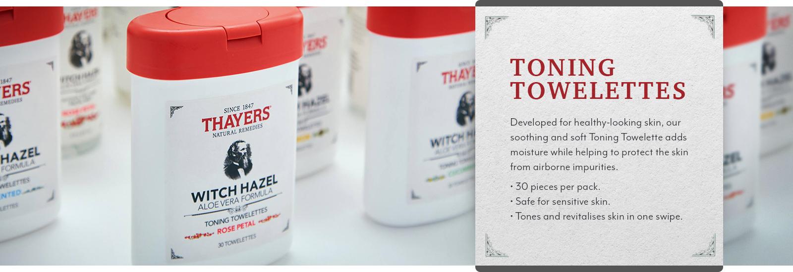 Thayers Toning Towelettes