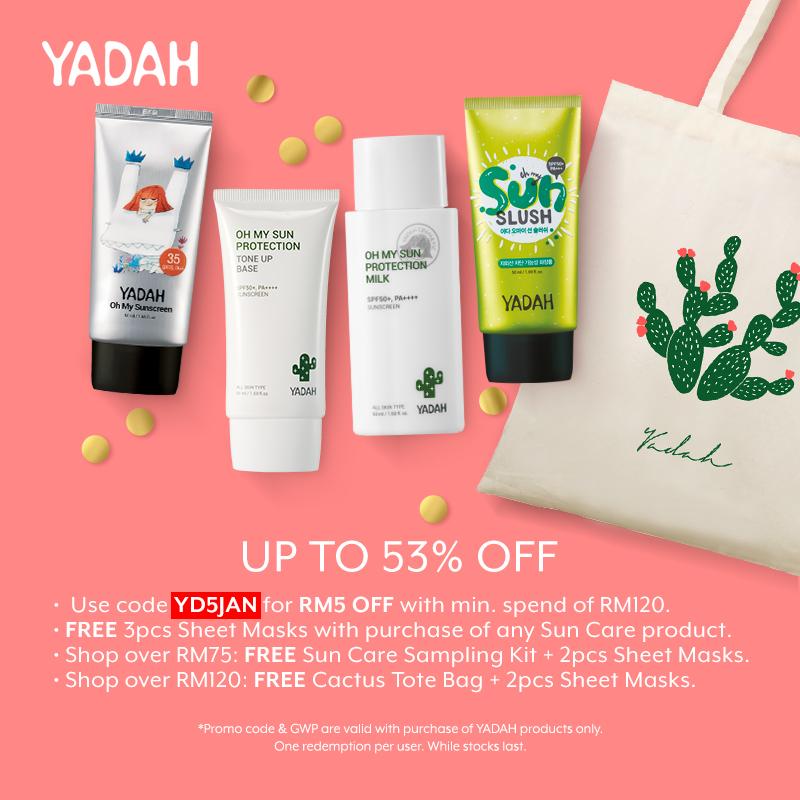 Jan 2019: Yadah New Year New Sunscreens