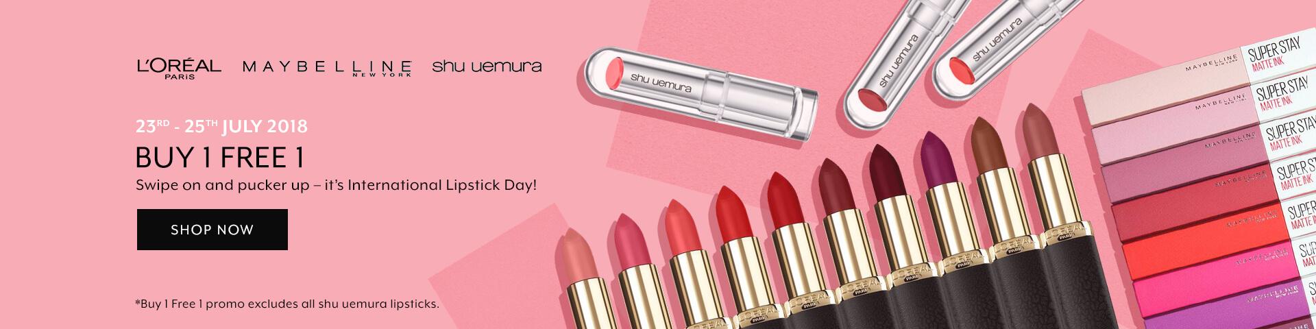 July 2018: L'Oreal Lipstick Mania