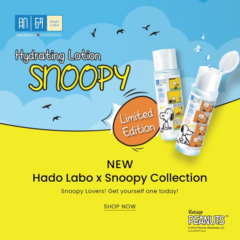 New Hado Labo x Snoopy Collection