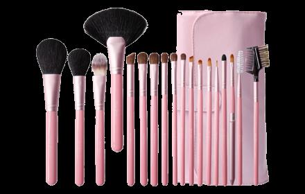 Cerro Qreen Professional Makeup Brush Set - 18pcs [#Blush Pink] - Hermo Online Beauty Shop Malaysia