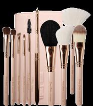 Cerro Qreen Fashion Makeup Brush Set Natural Animal Wool 10pcs [#French Vanilla]