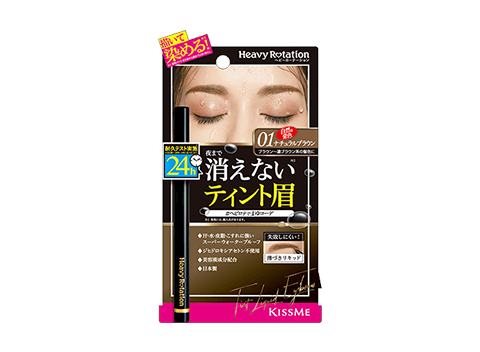 Heavy Rotation Tint Liquid Eyebrow will help you to create a beautiful natural eyebrow that able to last all day.
