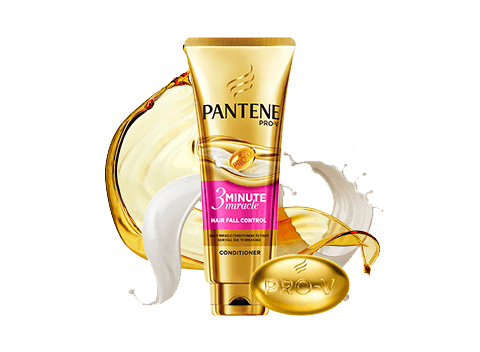 Strengthen hair against breakage for 98% less hair fall with Pantene's Hair Fall Control Miracle Conditioner.  • Smoothens 3 months of damage in 3 minutes  • Lasting strength for reduced hair fall due to breakage