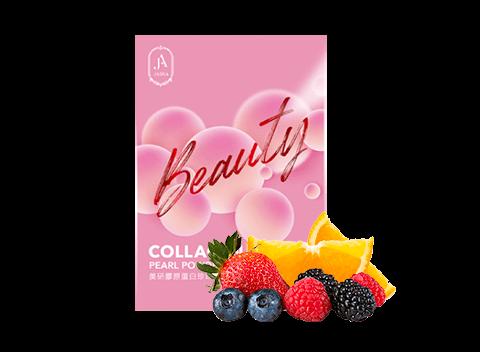 Japanese patented Fish Collagen, Pearl Powder, Vitamin C, Strawberry Juice Powder, Red Algae.