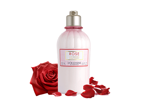 A body milk delicately perfumed with an elegant rose scent.