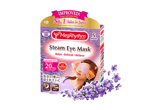 An innovative self warming steam eye mask relieves and relaxes your hardworking eyes
