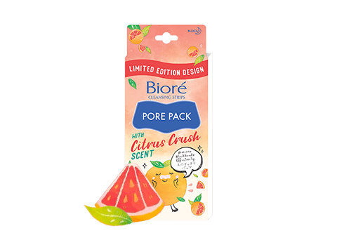 New Biore's Pore Pack removes blackheads completely with Witch Hazel Extract formula.  Sebum clogged in pores can be easily removed on the nose. Pores become less noticeable.