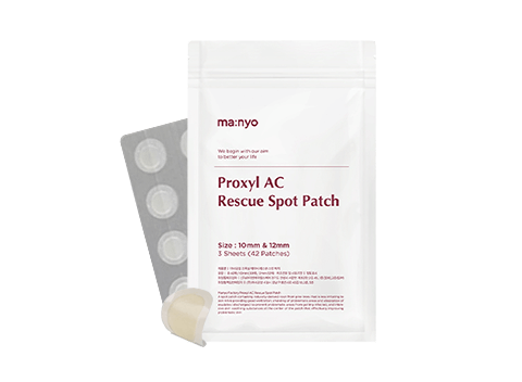 Oh no, is that a new pimple? Don't worry, the MANYO Proxyl AC Rescue Spot Patch is here!