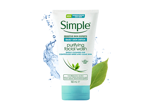 Wondering how to get rid of spots? Simple Daily Skin Detox Purifying Facial Wash is your new secret weapon for fighting clogged pores and oily skin!