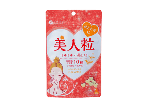 Coix, also known as Job's tears, is the common name for the Chinese medicinal material Coix lacryma-jobi seed. Job's tears contains chemicals that interfere with cancer cell growth. With FINE JAPAN Coix Seeds Beauty chewable tablets you can easily stay bea