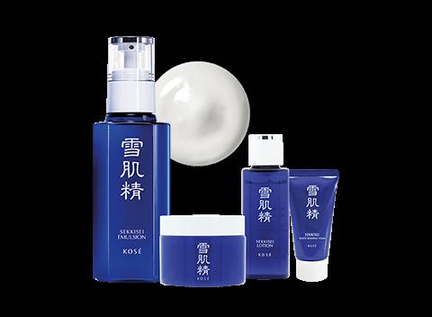 A whitening emulsion that maintains the skin's ability to retain moisture. This set consists of:  1. Sekkisei Emulsion 140ml  2. Sekkisei White Washing Foam 30g   3. Sekkisei Lotion 24ml  4. Sekkisei Herbal Esthetic 30g