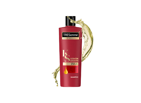 For 5 in 1 smoothness, use TRESemmé Keratin Smooth—anti-frizz, detangles, shines, smoothens, and tames flyaways.